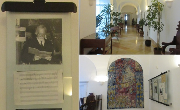 Interior of the Zoltán Kodály Institute. Unfortunately, I don't understand Hungarian, so I can't explain these photos.