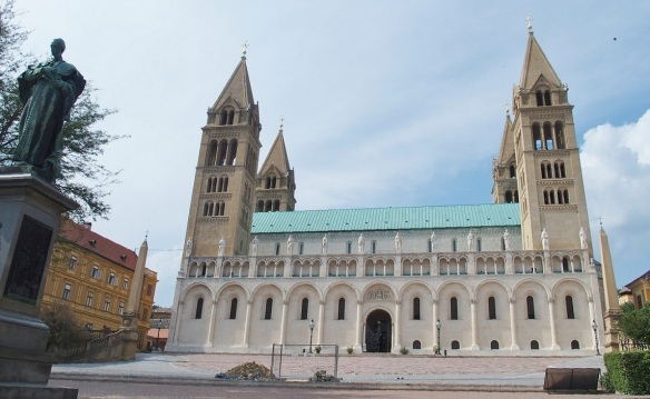 Façade of Pécs Cathedral