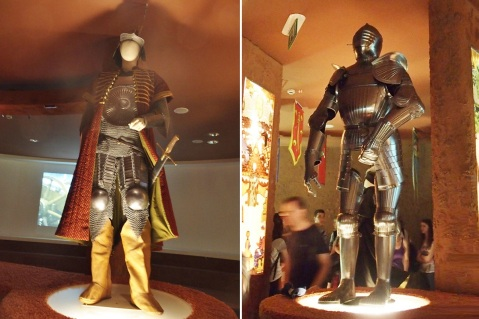 Display of the museum, Turkish and Christian knight, European armor seems to be heavy.
