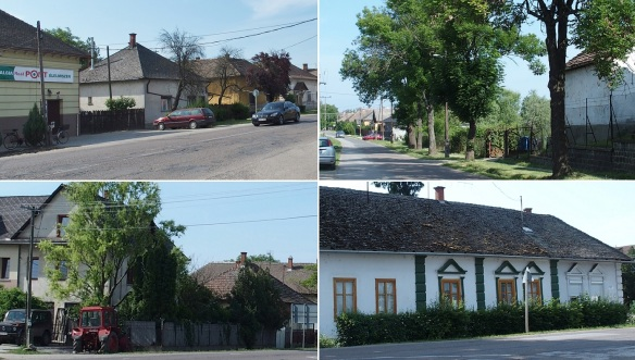 The town of Kunhegyes, we are walking to the town center along the Kossuth Lajos Street.