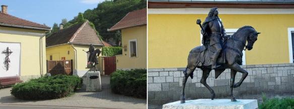 Statue of Francis Rakoczi II on the Rakoczi Street Tokaj