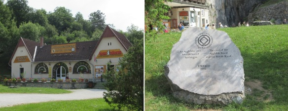 Aggtelek Tourist Information Office and UNESCO World Heritage Stone (The caves of the Aggtelek Karst and the Slovak Karst.)