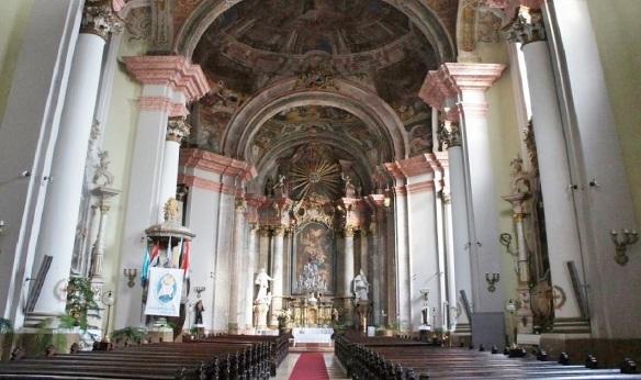 The interior of the Minorite Church Eger Hungary