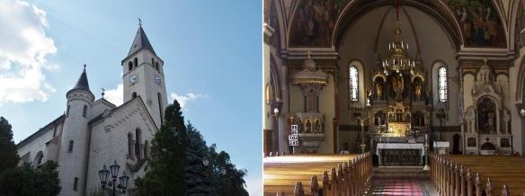 Heart of Jesus Church and Interior of the Church, Tokaj