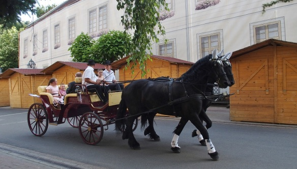 A carriage and two was passing me by..