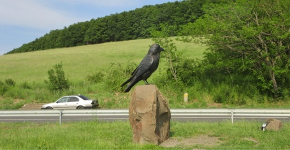 """Getting in the village of Hollókő, its name means """"Raven-stone""""."""