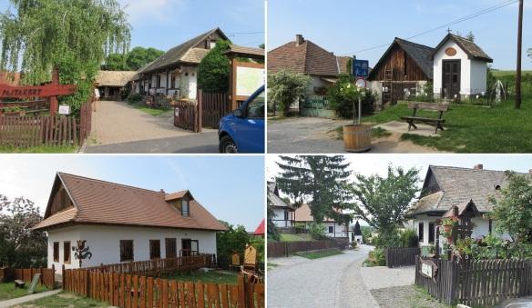 Walking through the Kossuth Street of Hollókő. Very lovely traditional houses.