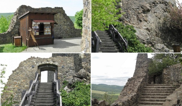 Paid the fee at the ticket office, walking up the stairs and enter the castle.