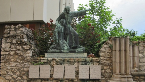Statue of Friar Julian on the Castle Hill, Budapest.