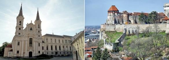 Walking to Esztergom Basilica; St. Ignatius of Loyola Parish Church and National Museum of Esztergom Castle.