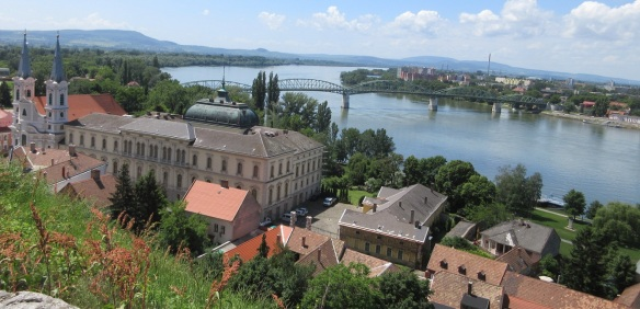 Really beatiful scenery from the belvedere of the Esztergom Royal Palace.