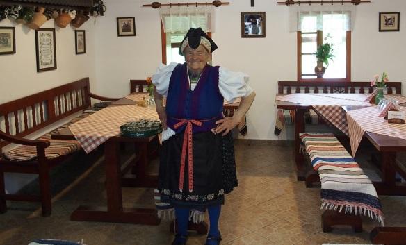 Palóc's female, Grannie Piroshika, 84 years old. She is very fine. She is really full of energy.