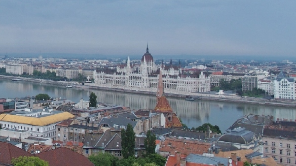 Parliament House of Hungary, view from the Castle Hill.