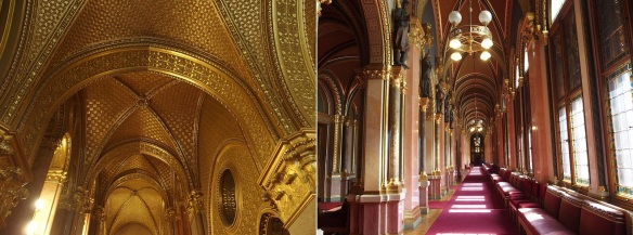 The interior of the parliament building is really gorgeous.