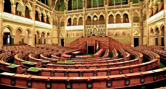 Assembly hall of the House of Magnates (Members of the Upper House)