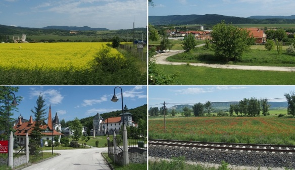 We are going to the city of Esztergom. The scenery is very beautiful.