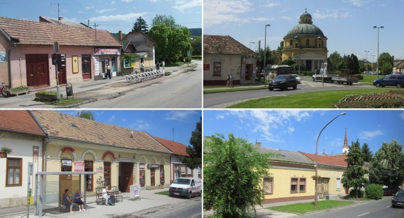 Going into the town of Esztergom.