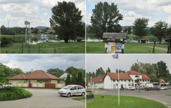 Scenery from Visegrád to Szentendre, along the Szentendre Danube river. It's getting cloudy.