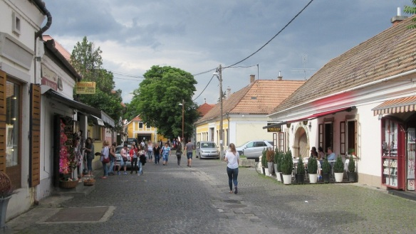 we are walking to the town center of Szentendre.