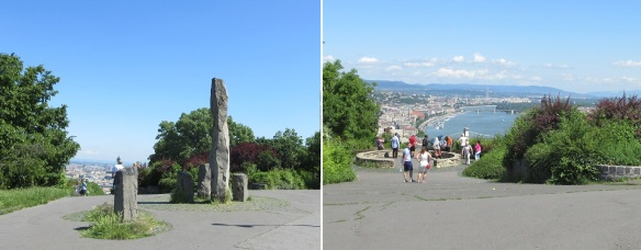 Walking up on the Gellért Hill to the Citadel.