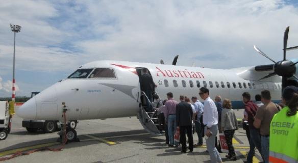 Flight OS714 from Budapest to Vienna