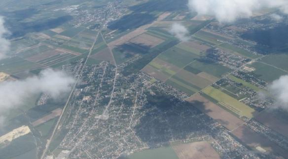 Leaving Hungary, view from the aircraft. Sayonara Magyar!