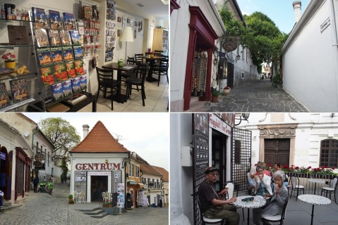 Gift shop of the Margit Kovács Museum. Vastagh György Street. Ice cream shop on the main square. We enjoyed ice cream.