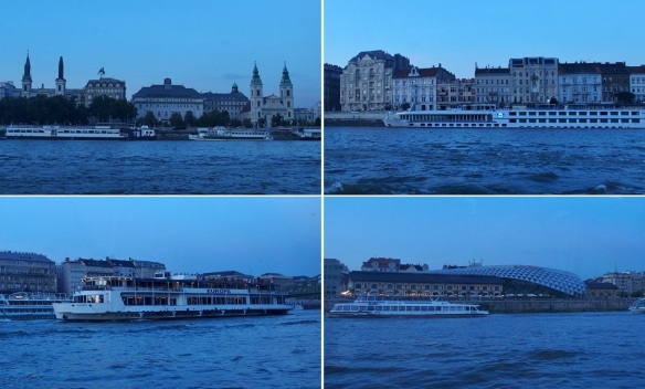 Evening scenery of the Danube banks.