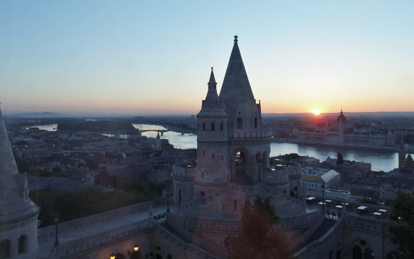 Early-morning Budapest, view from the hotel room.