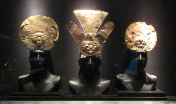 Gold headdress, Mochica royalty attribute, Moche culture.